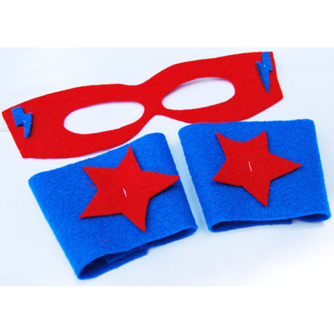 Super Hero Mask and Wristbands