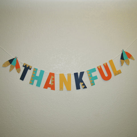 """Thankful"" Banner on Pinterest"