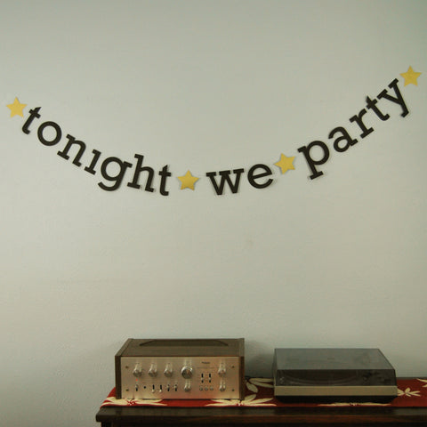 "New Year's Eve ""Tonight We Party"" Banner"