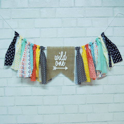 Wild One Highchair Banner