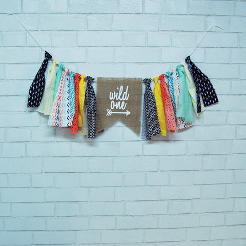 Wild One Highchair Banner on Pinterest