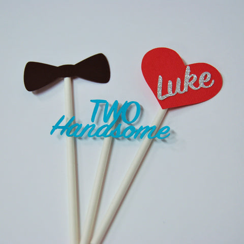 Two Handsome Cupcake Toppers