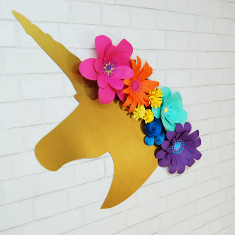 Floral Unicorn Wall Decoration