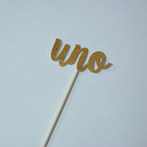 """Uno"" Cupcake Toppers"
