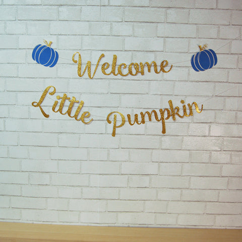 Little Pumpkin Baby Shower Banner