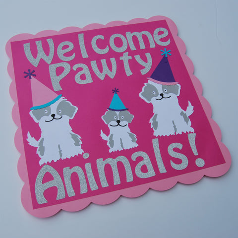 """Pawty Animals"" Birthday Sign"