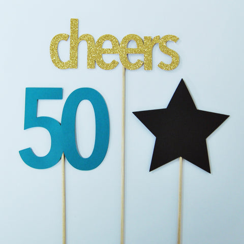 Cheers to 50 Centerpiece on Pinterest