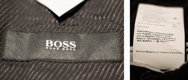 Hugo Boss suit jacket label