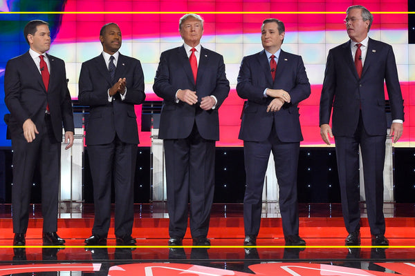 Donald Trump's height vs. Jeb Bush, Marco Rubio, Ben Carson, and Ted Cruz