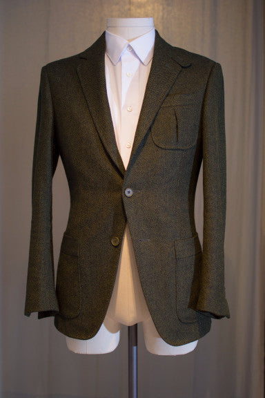 Green Herringbone Hunting Jacket