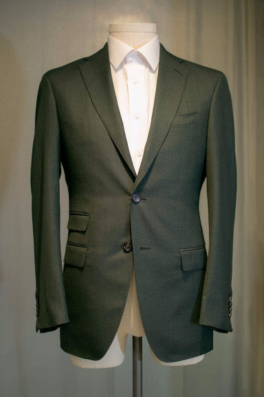 Green Suit With Ticket Pocket