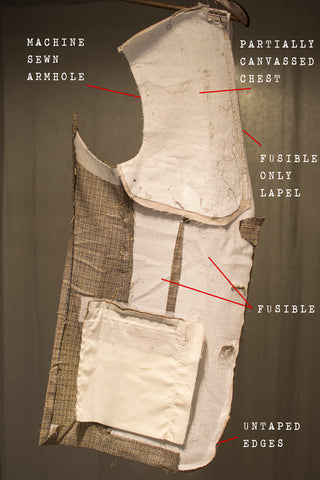 Deconstructed Jos. A. Bank suit with fusing