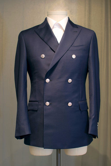 Modern Navy Double Breasted Blazer