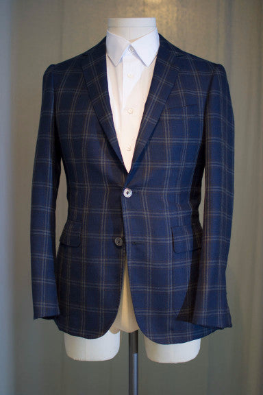 Navy Window Pane Sport Coat