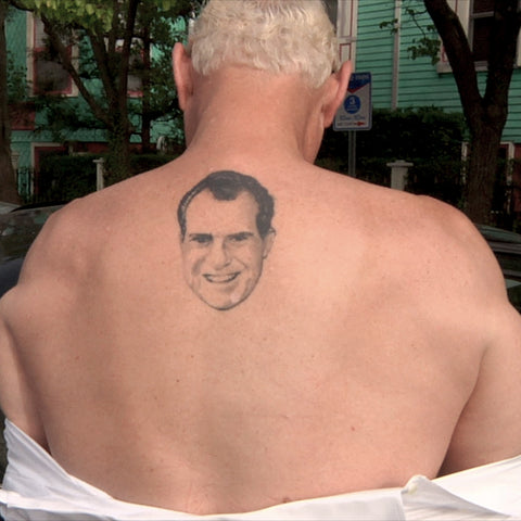 Roger Stone Nixon Back Tattoo
