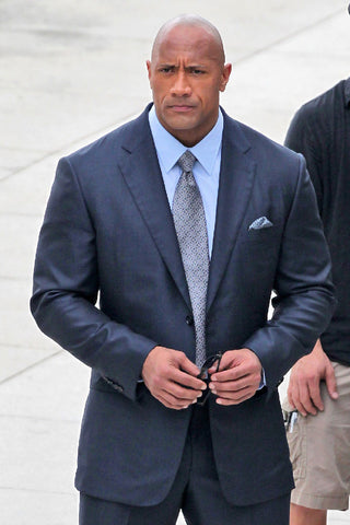 "Dwayne ""The Rock"" Johnson suit collar issue"