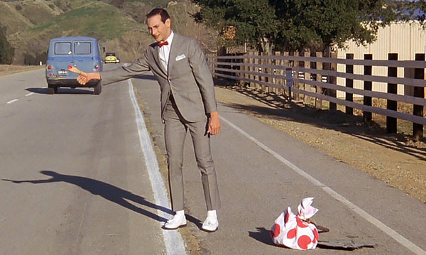 Pee-wee's Big Adventure, little suit