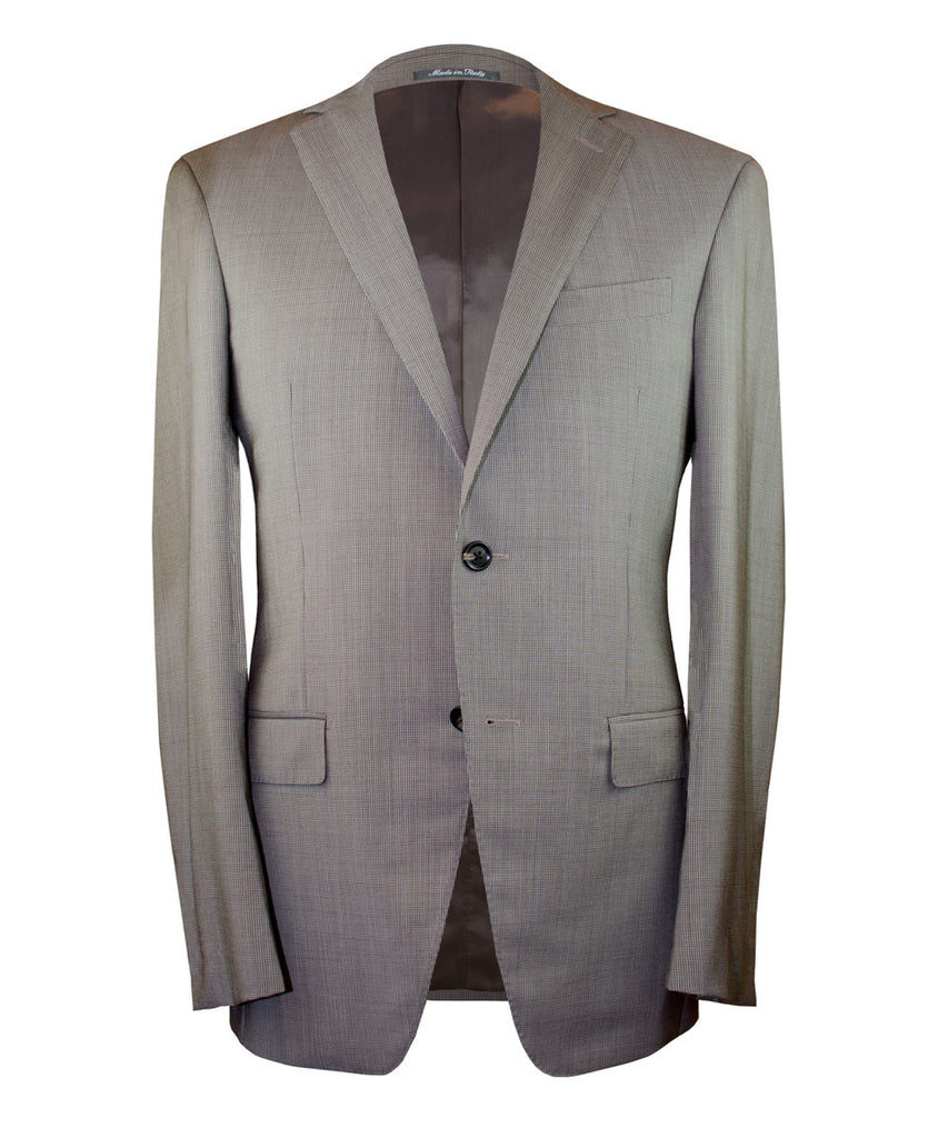 Tan Micro-Houndstooth Suit - Ezra Paul Clothing