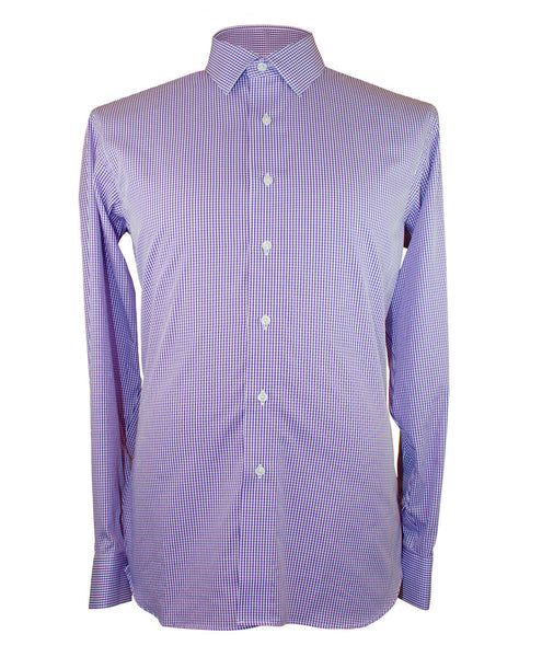 Lavender Gingham Shirt - Ezra Paul Clothing