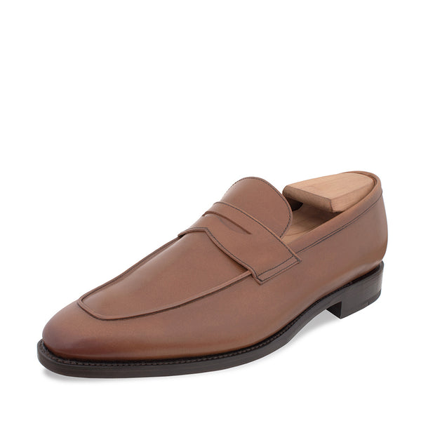 Cognac Raised Apron Penny Loafer **PRESALE**