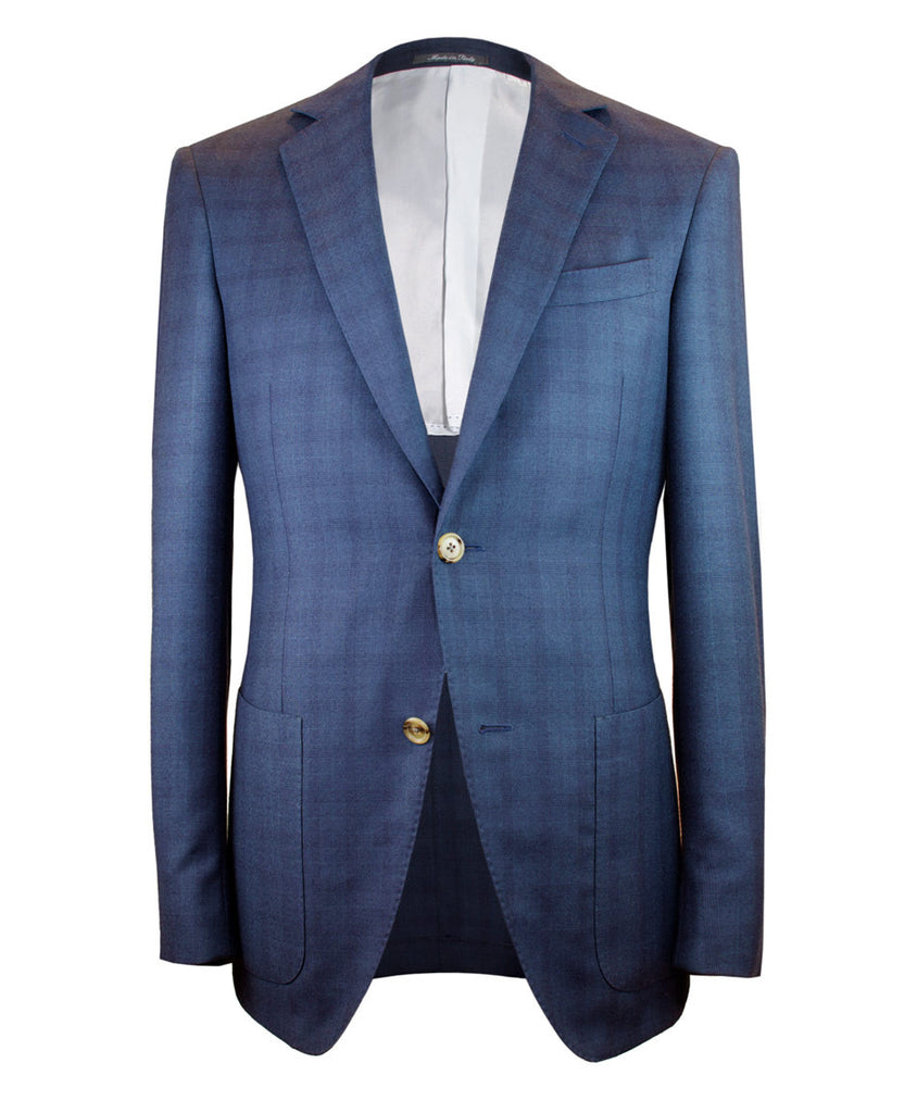 Navy Plaid Sportcoat - Ezra Paul Clothing