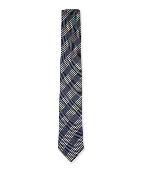 Navy Glen Plaid Tie - Ezra Paul Clothing