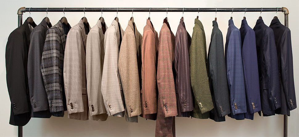 suits, shirts, jackets, trousers