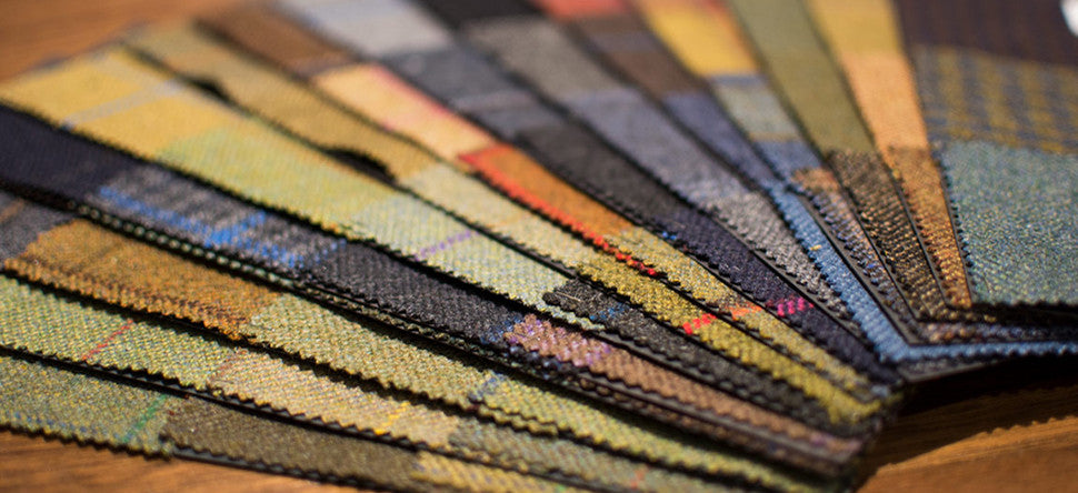 Scottish and Irish tweed fabric