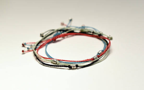 Silver Disc Friendship Bracelets