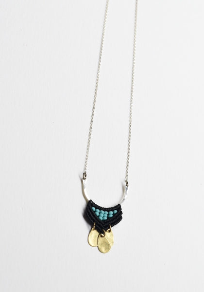 Silver & Brass Portico Necklace