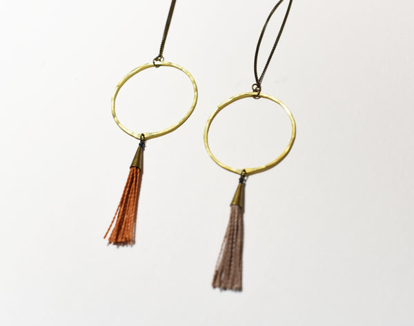 Hoop & Tassel Necklace