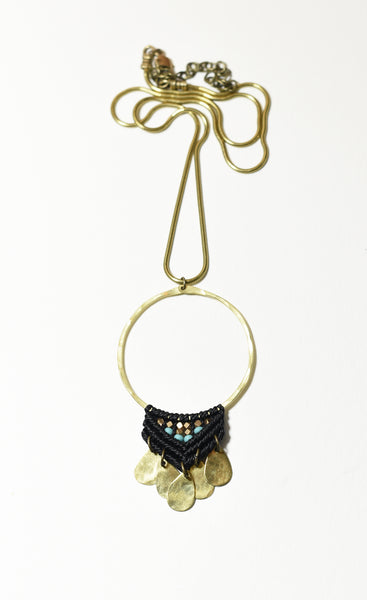 Large Brass Fuerza Necklace