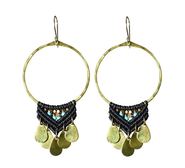 Large Brass Fuerza Hoops