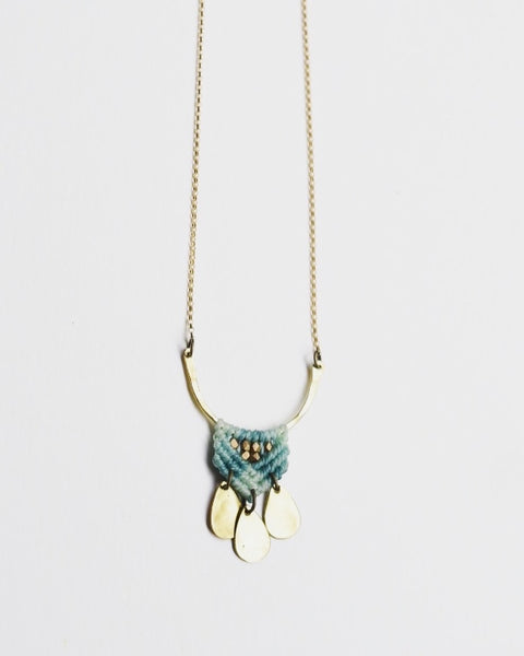 Portico Necklace Aqua
