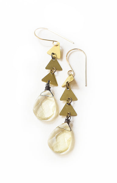 Cascading Citrine Earrings