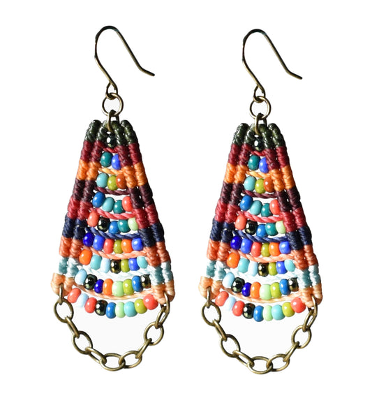 Woven Temple Earrings