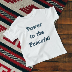 Power to the Peaceful | kid's tee