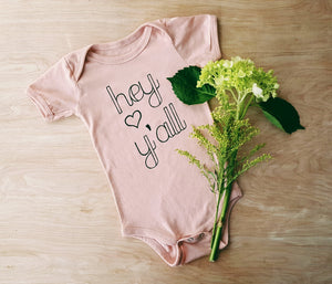 Hey Y'all| infant onesie