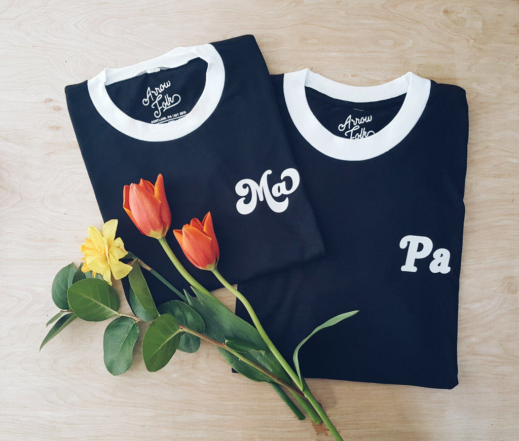 Ma & Pa Pocket Ringer Tees