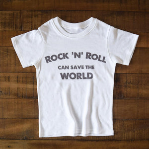 Rock 'N' Roll Can Save The World | kid's tee