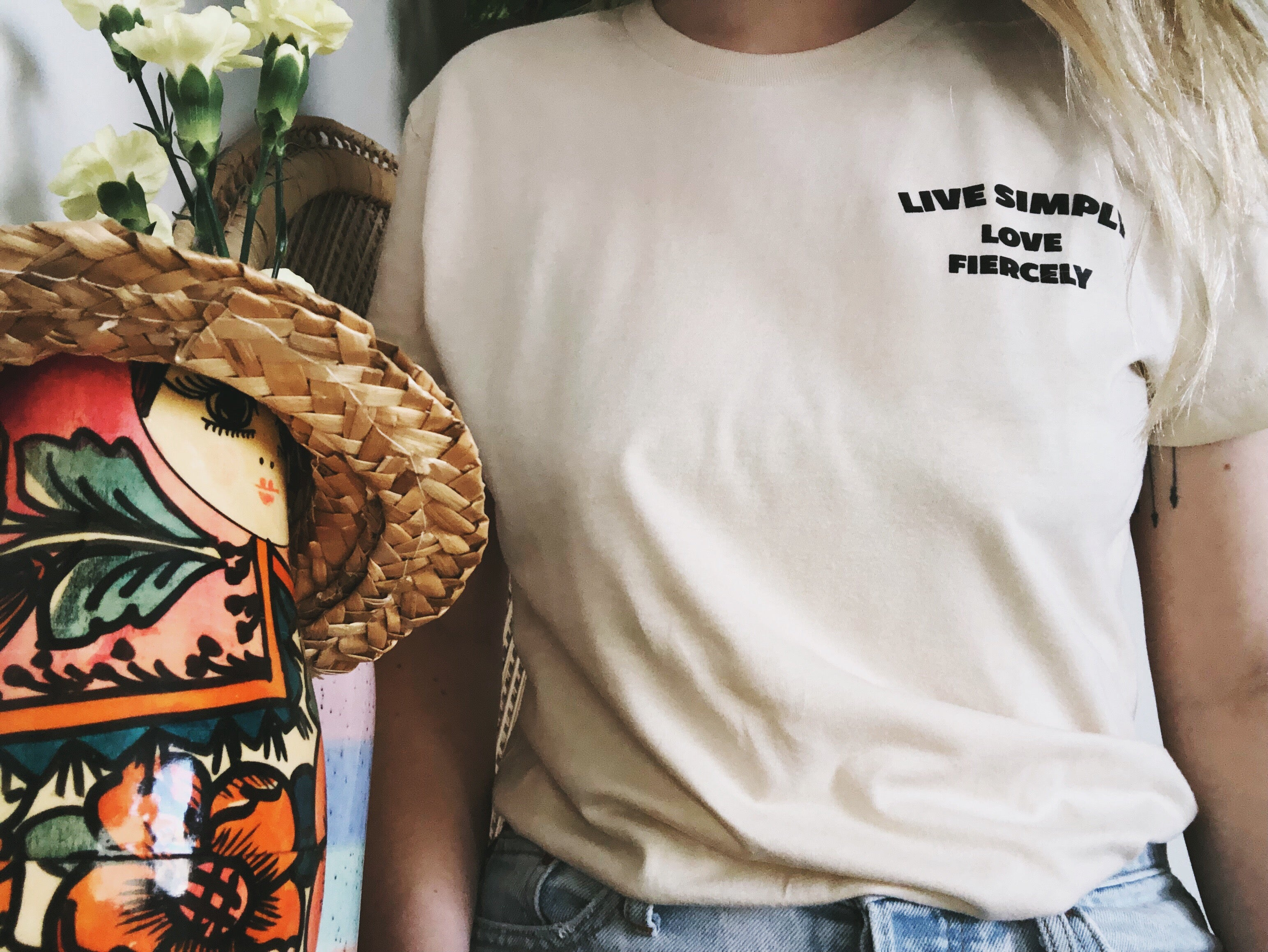 Live Simply Adult Pocket Tee