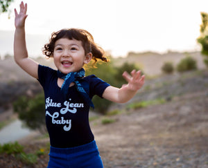 Blue Jean Baby | kid's leotard