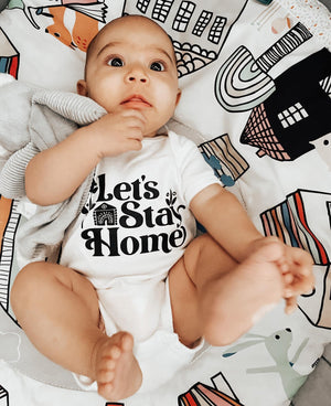 Let's Stay Home | infant onesie