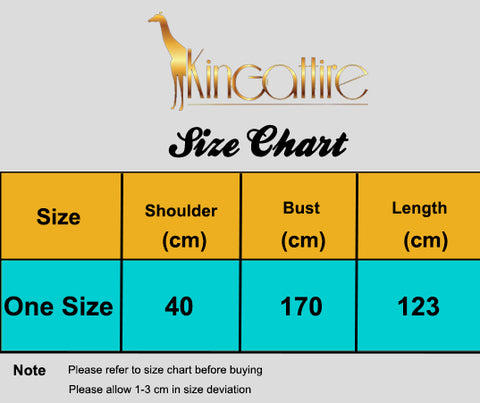 long women size chart