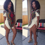 Pink White Dashiki Tunic