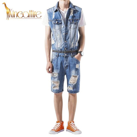 Blue Jean Men's Romper