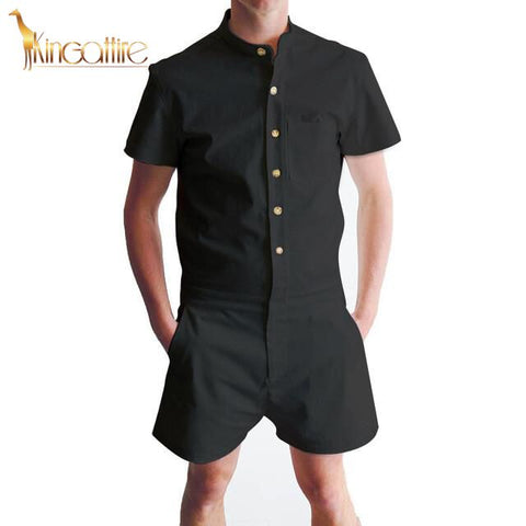 Black Men's Romper