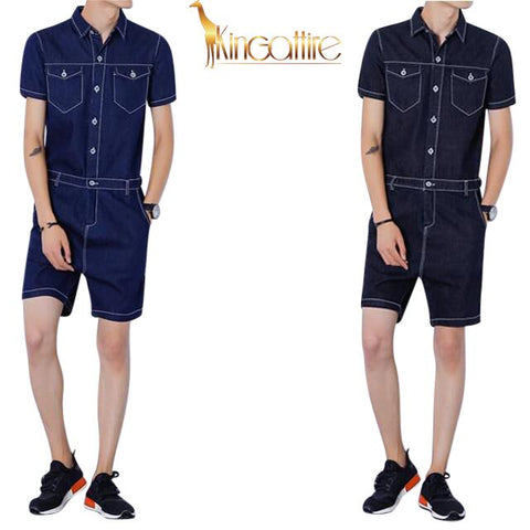 Denim Men's Romper(Multiple Choices)