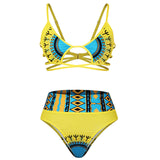 Yellow Beach Dashiki Swimsuit