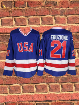 Miracle On Ice- EJ Eruzione #21 (Blue)